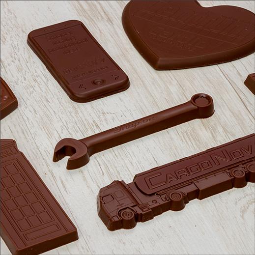 Schokolade in unterschiedlichen Formen