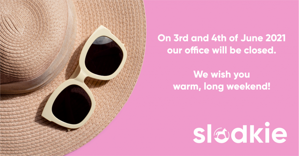On 3rd and 4th June 2021 our office will be closed.